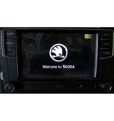 Штатная Автомагнитола SKODA RAPID MQB после 2016 г. оригинал bluetooth USB навигация GPS