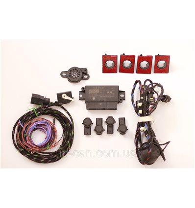 Парковочный ассистент парктроник задний на 4 датчика для Skoda Octavia A7, Октавия 3, Superb 3